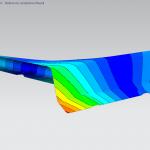 campo deformazioni componente in termoplastico